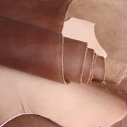 """Натуральная кожа """"Крейзи Хорс"""" для обуви и кожгалантереи коньячного цвета арт. СК 2027 фото"""