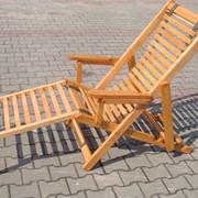 Шезлонг деревянный, раскладной фото