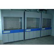 Шкаф вытяжной химический 1500 x 750 х 2280 шкафы вытяжные радиохимические лабораторная мебель от производителя. фото