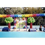 Оформление воздушными шарами. День города. фото