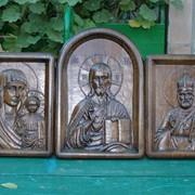 Иконы из твердых пород дерева, домашний Иконостас деревянный резной из дуба фото