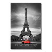"Стеновая фото-панель на пластике ""Эйфелева башня"", 2,0х1,3м фото"