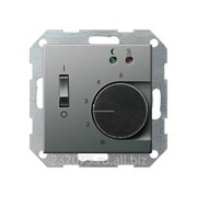 Терморегулятор для тёплого пола Gira коллекция E22, G39420, сталь фото