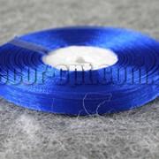 Лента органза синяя 1 см 50ярд 3895 фото