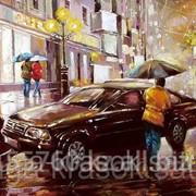 Картина по номерам Дождливый вечер фото