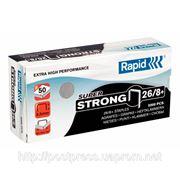 Скобы стандартные 26/8 Rapid, (5000 шт) SuperStrong фото