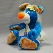 Детская мягкая игрушка зайчик Ермолай фото