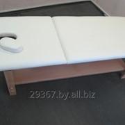 Стационарный массажный стол BodyFit бежевый фото