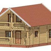 Деревянный дом проект фото