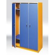 Шкаф в детсад купить, Шкаф для детского садика 3-месный 780х330х1400 мм, Код: 0609 фото