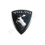 Эмблема Volvo c лосем задняя, чёрная на багажник фото