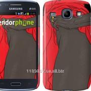 Чехол на Samsung Galaxy Core i8262 Девушка, Бедро, Красный, Золотой, 18+, Эскиз, Скетч 3522c-88 фото