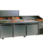 Стол холодильник для пиццы двух-дверный -2+8°С , габариты:1500*700*850 фото