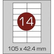 Этикетки самоклеящиеся 105х42,4 мм фото