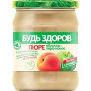 """Пюре фруктовое яблочно-персиковое """"Будь здоров"""", 450г фото"""