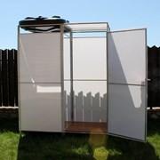 Летний душ для дачи с тамбуром и без Импласт, Агросфера. Бак: 55, 110, 150, 200 л. с подогревом и без. Доставка. Арт: 2084 фото