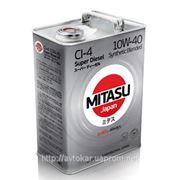 Полусинтетическое дизельное масло масло MITASU SUPER DIESEL CI-4 10W-40 Synthetic Blended / емкость: 4л. фото
