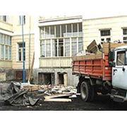 вывоз строительного мусора в мешках и насыпью старой мебели хлама фото