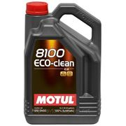 Моторное масло MOTUL 8100 ECO-Clean 0w30 , 5 л. синтетика фото
