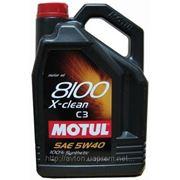 Моторное масло MOTUL 8100 X-clean 5w40 , 5 л. синтетика фото