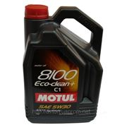 Моторное масло MOTUL 8100 ECO-Clean 5w30 , 5 л. синтетика фото