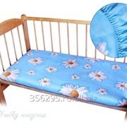 Простынь на резинке в детскую кроватку фото