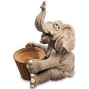 Скульптура-кашпо Слон добряк 26,5х37х29см. арт.GG-5331-LE Sealmark фото