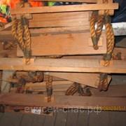 Штормтрап посадочный (5 метров) с длинными балясинами (ступеньками) фото