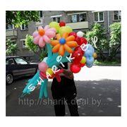 БУКЕТ ИЗ шаров в виде цветов фото