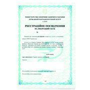 Услуги по регистрация субстанций, вспомогательных веществ для лекарственных средств фото