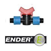 Соединительный кран для капельной трубки ENDER (капельный полив) фото