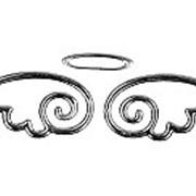 Наклейка WIIIX Ангел малая ый серебряный фото