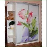 Шкаф-купе с фотопечатью (цветы) фото