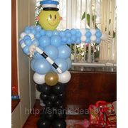 Милиционер из шариков. арт.11444 фото