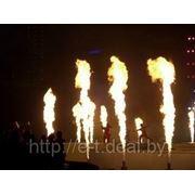 Огнеметы, фонтаны искр фото