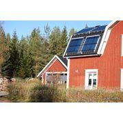 Солнечные вакуумные гелиосистемы для горячего водоснабжения частных жилых и дачных домов, коттеджей фото