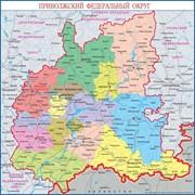 Настенная карта Приволжского Федерального округа фото