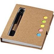 """Набор стикеров """"Reveal"""" с ручкой и блокнотом А7, светло-коричневый фото"""
