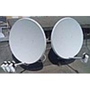 Установка спутниковой антенны на 3 телевизора ((4 спутника(2тарелки) + skytech 4100c)) фото