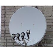Установка спутниковой антенны принимающей сигнал с 4-ёх спутников(1 антенна) фото