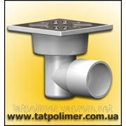 Трап с нержавеющей решеткой канализационный ТП-101.50-100 HSHs фото