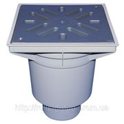HL606L/1 Дворовый трап серии Perfekt DN110 верт. с морозоустойчивым запахозапирающим затвором.. фото