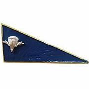 Кокарда уголок (флажок) на берет ВДВ, синяя фото
