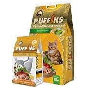 Развес Puffins 10кг Сухой корм для взрослых кошек Вкусная курочка фото