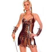 Новогодний карнавальный женский костюм Гладиатор фото
