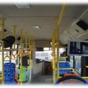 Реклама внутри автобусов, трамваев, троллейбусов в г. Алматы фото