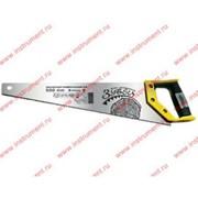 "Ножовка по дереву ""Зубец"", 350 мм, 7-8 TPI, зуб 2D, калёный зуб, 2-х компонентная рукоятка// Сибртех фото"