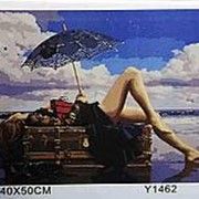 Y1462 картина по номерам 40х50 девушка у моря фото