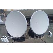 Установка спутниковой антенны на 1 телевизор ((4 спутника(2тарелки) + skytech 4100c)) фото
