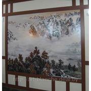 Декор стен — роспись стен, декоративное панно, живопись, рельеф фото